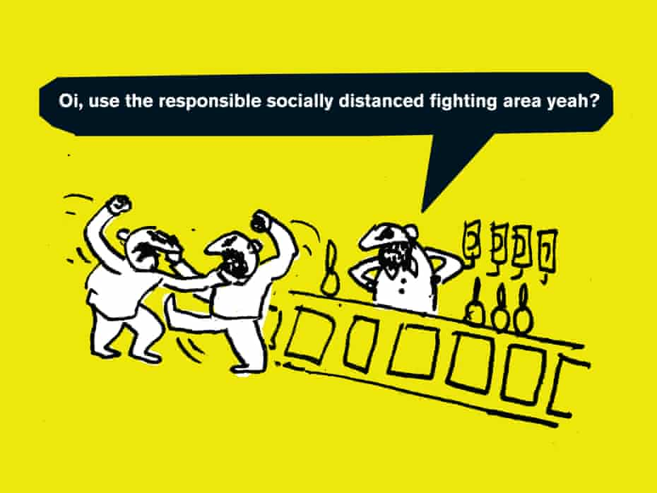 Modern Toss's cartoon Pub Fight