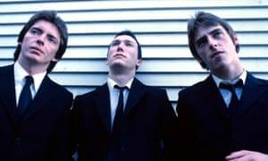 The Jam in 1977: (from left) Bruce Foxton, Rick Buckler and Paul Weller