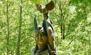Sculpture on the Wood Vibrations Trail, Margam Country Park, Neath Port Talbot