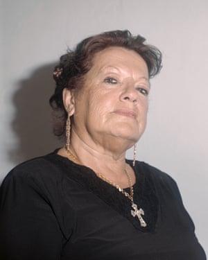 Fadista Dina Brito in Alto do Pina, Lisbon.