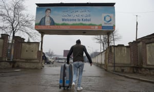 An Afghan refugee who was deported from Germany arrives in Kabul