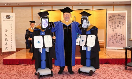Robots replace students at Japan graduation ceremony amid Covid-19 outbreak – video