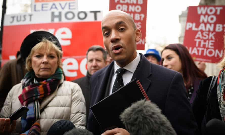 Anna Soubry (L) and Chuka Umunna arrive at the Cabinet Office ahead of a Brexit meeting with Theresa May's Chief of Staff.
