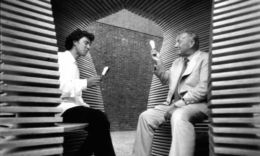 Thomas Heatherwick with friend and mentor Sir Terence Conran.