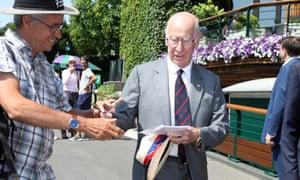 Sir Bobby Charlton at Wimbledon