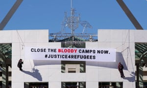 protestors against refugee camps
