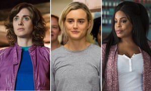Alison Brie in GLOW, Taylor Schilling in Orange is the New Black and Niecy Nash in Claws.