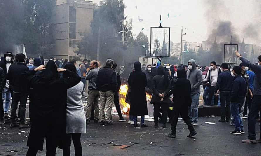 Fuel price protests in Tehran