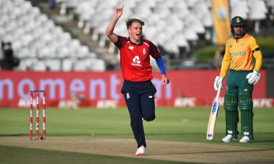 Sam Curran was the pick of the England bowlers with figures of 3-28 from his four overs.