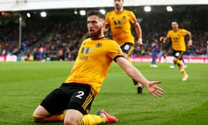 Matt Doherty celebrates his winner at Selhurst Park.