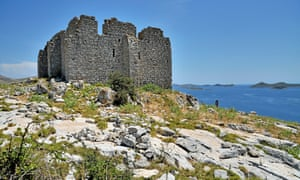 Tureta 6th-century fortress on Kornat.