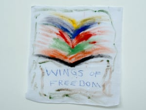 'Wings of freedom': a drawing from a detainee on Nauru.