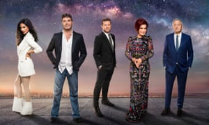 From left: Nicole Scherzinger, Simon Cowell, Dermot O'Leary, Sharon Osbourne and Louis Walsh, the judges and presenter of The X Factor