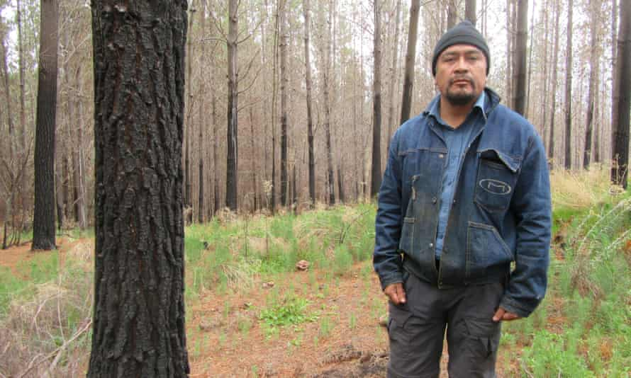 Hector Llaitul, an indigenous activist.