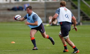 George Ford takes part in an England training session