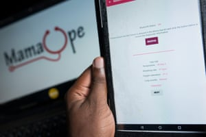 The Android app that accompanies the Mamaope jacket