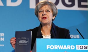 Theresa May launches the Conservative party election manifesto