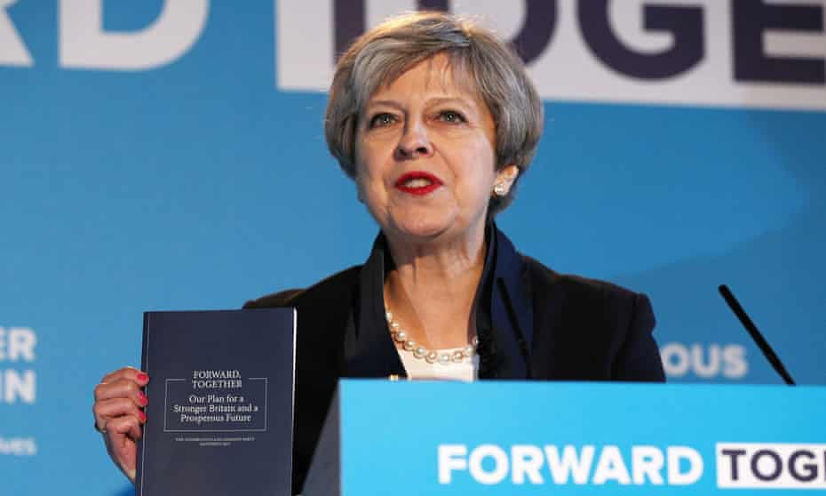 Theresa May launches the Conservative manifesto in Halifax, May 2017