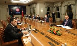 Libya's Fayez al-Sarraj and Turkey's Recep Tayyip Erdoğan meeting in Istanbul on Sunday