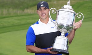 Brooks Koepka survived a late challenge from Dustin Johnson to retain the US PGA Championship last month.