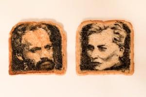 Hugo Weaving and Cate Blanchett on toast.