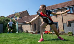 Ellis and Smith needed to train in their back garden during lockdown.