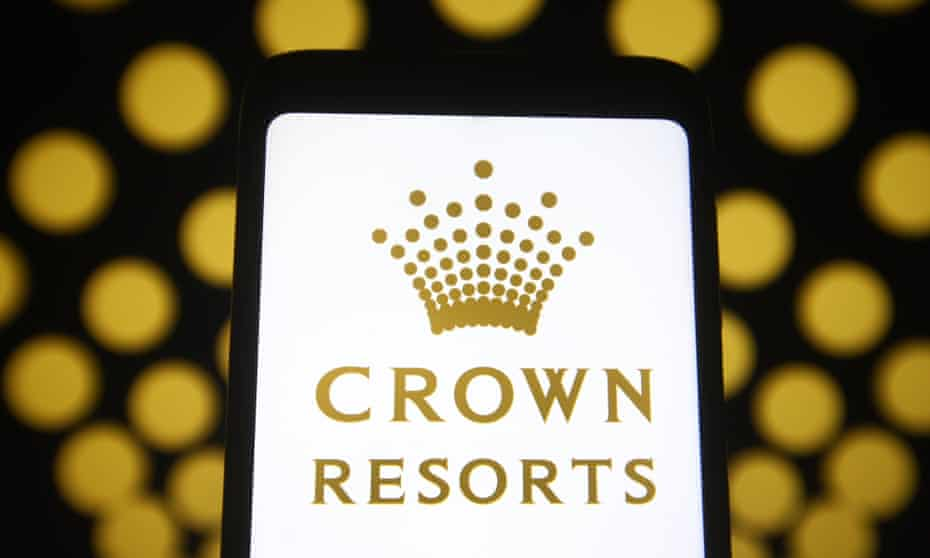 A photo of the Crown Resorts logo