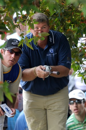 Double major winner John Daly of the USA at Huntingdale in 2008