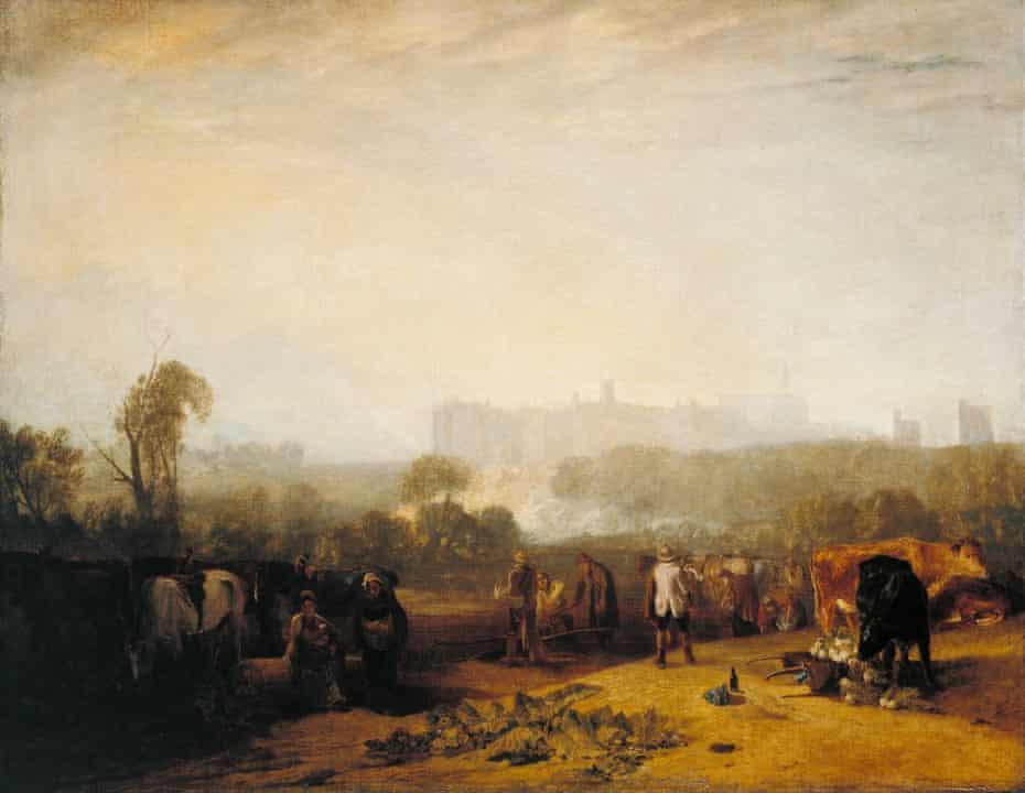 Ploughing Up Turnips, near Slough (Windsor), 1809 by JMW Turner.