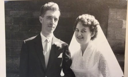 Peter and Valerie Williamson on their wedding day on 5 September 1959.