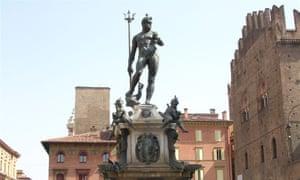 The statue of Neptune in the Piazza del Nettuno, Bologna, Italy