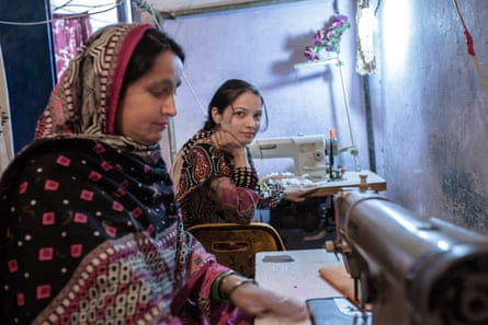 Garment workers in Sindh province