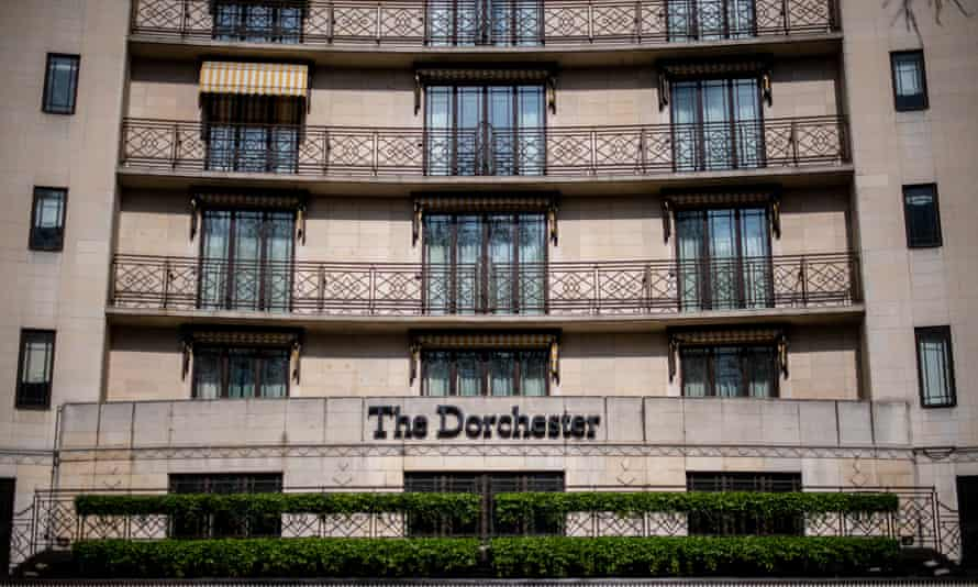 The front of the Dorchester in London