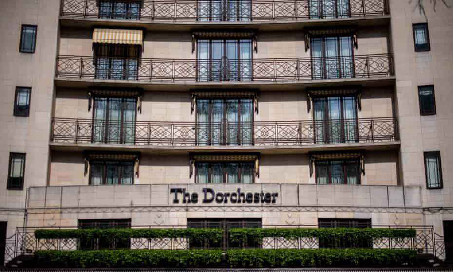 The front entrance at The Dorchester, owned by the Sultan of Brunei, in London. Brunei has introduced strict new laws that make gay sex and adultery offences punishable by stoning to death.