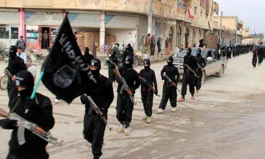 Isis fighters in Raqqa in 2014.