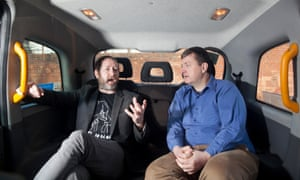 Black-cab driver Seamus Balfe (left) and Uber driver James Farrar