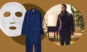 Charlotte Tilbury Instant Magic mask, £18; boiler suit, £135, MC Overalls; Michael Myers in Halloween