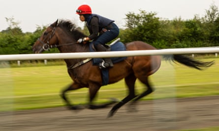 Khadijah Mellah in training at the British Racing School in Newmarket.