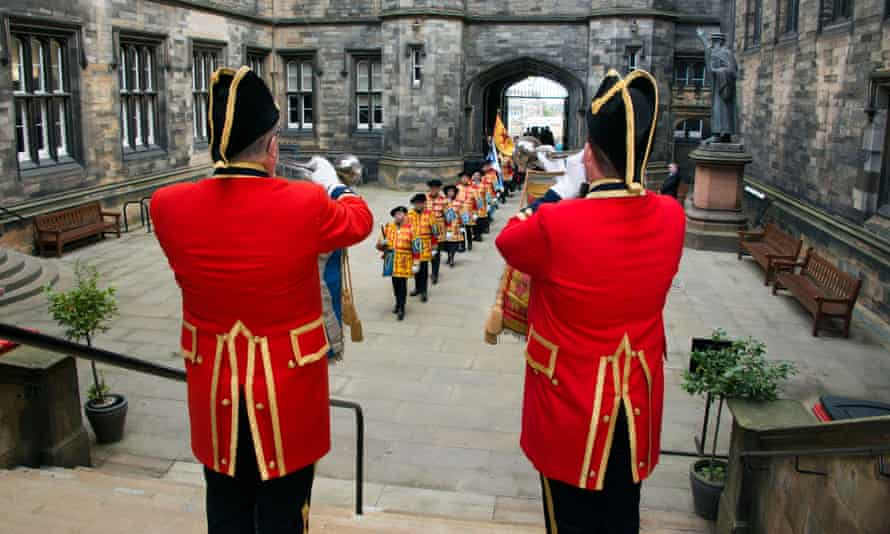A procession opens the Church of Scotland's general assembly at the Assembly Hall on the Mound, Edinburgh.