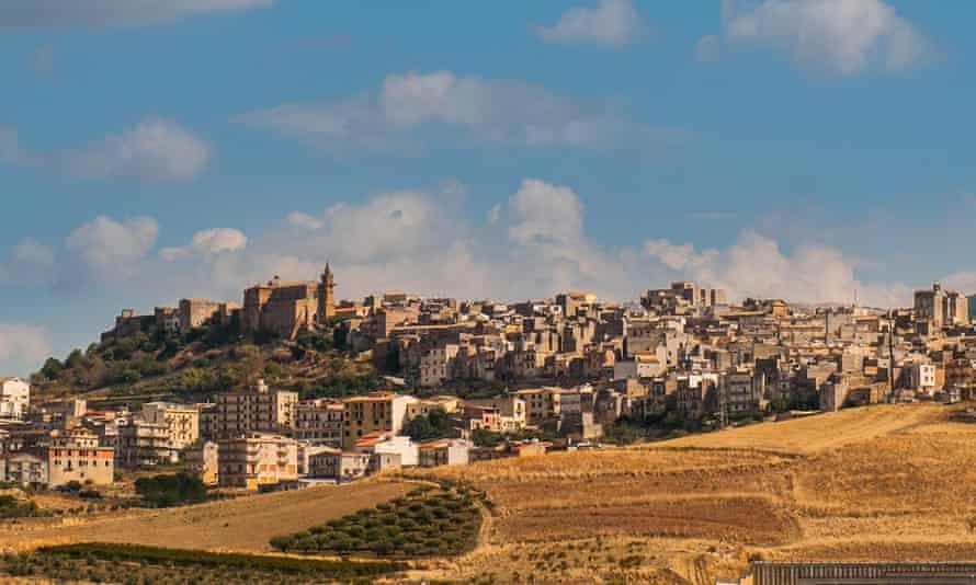 A view of the village of Sambuca, Italy