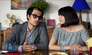 Louis Garrel and Stacy Martin in Redoubtable.