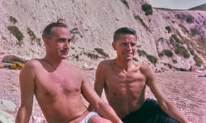 George Walton (left) and Reg Mickisch, who were together from 1949 until their deaths in 2011, on the beach in Italy in the mid 1960s.