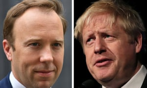 Matt Hancock, left, said that public sector workers should be 'properly rewarded' and would get a 'fair' rise if Boris Johnson became prime minister.