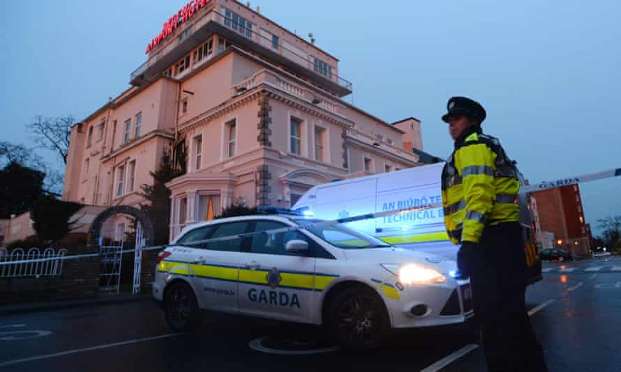 A police cordon sealing off the Regency hotel
