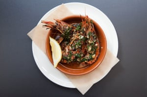 'Rip off the heads and have a good suck': red prawns.