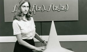 A still from an Open University maths lecture, first broadcast in January 1971.
