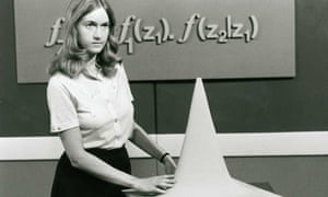 A televised Open University maths lecture, broadcast on the BBC in the 1970s