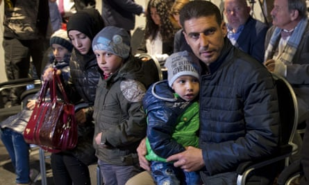 Some of the Syrians brought to The Hague by Russia.