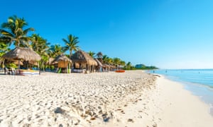 Still picking the package … Mexico is popular with UK tourists for long-haul package breaks. Pictured, Playa del Carmen, Quintana Roo.