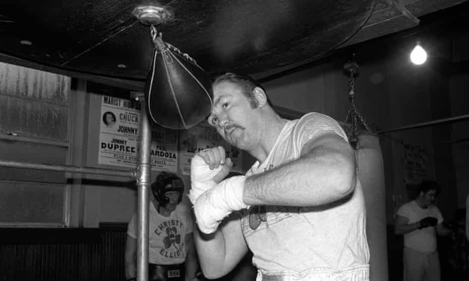 Boxer Chuck Wepner training in New Jersey in 1975 before his fight against Muhammad Ali.
